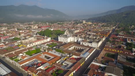 Beautiful-aerial-shot-over-the-colonial-Central-American-city-of-Antigua-Guatemala-13