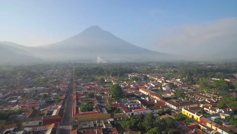 Beautiful-aerial-shot-over-the-colonial-Central-American-city-of-Antigua-Guatemala-14