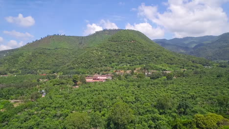 Aerial-over-the-jungles-villages-and-farm-fields-of-Guatemala