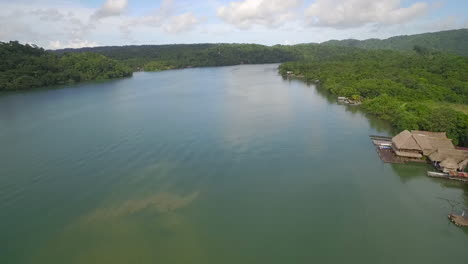 An-aerial-over-a-small-village-on-the-Rio-Dulce-River-in-Guatemala-2