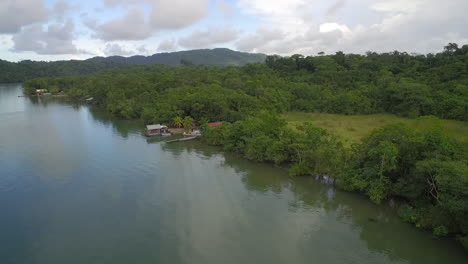 An-aerial-over-a-small-village-on-the-Rio-Dulce-River-in-Guatemala-4