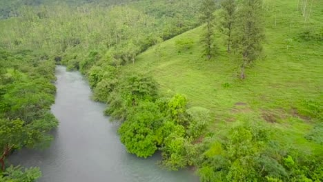 An-aerial-over-the-semuc-champey-river-in-Guatemala