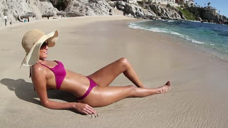 Woman-Relaxing-on-Beach-0-24