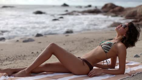 Woman-Relaxing-on-Beach-0-36