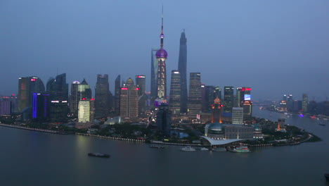 Establishing-shot-of-the-skyline-of-Shanghai-China-at-night