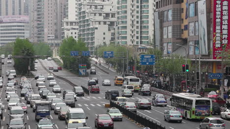 Traffic-crowds-the-streets-of-modern-ShanghaiChina