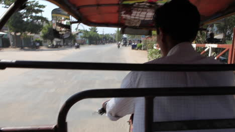 POV-shot-from-a-pedicab-traveling-through-the-streets-of-Myanmar-Burma