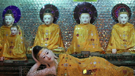Reclining-Buddhas-are-on-display-in-a-temple-in-Burma-Myanmar