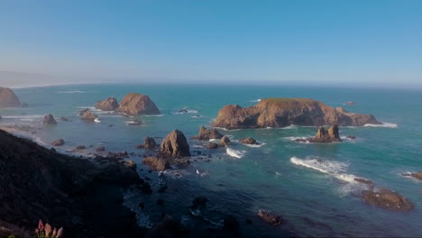 A-beautiful-aerial-over-the-shore-reveals-the-coastline-of-Big-Sur-in-Central-California