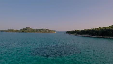 Antena-Sobre-Las-Islas-Costeras-De-Croacia