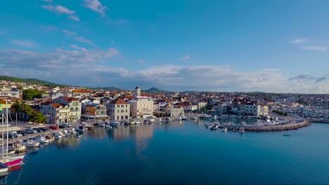 Aerial-over-a-coastal-village-in-Croatia-14