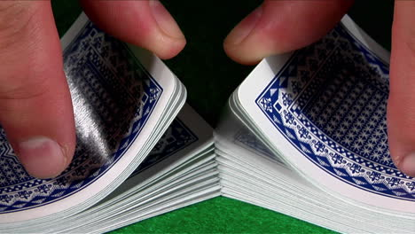 A-deck-of-cards-is-shuffled-in-slow-motion