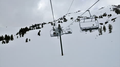 POV-on-a-chairlift-in-time-lapse