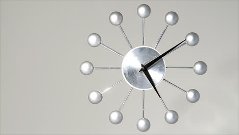 Time-lapse-of-contemporary-hand-clock-running