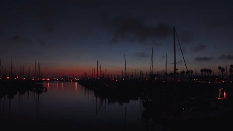 Time-lapse-of-a-harbor-during-sunset-1