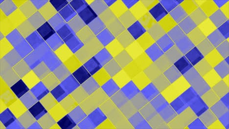 Looping-animations-of-a-blue-and-yellow-checkerboard-design
