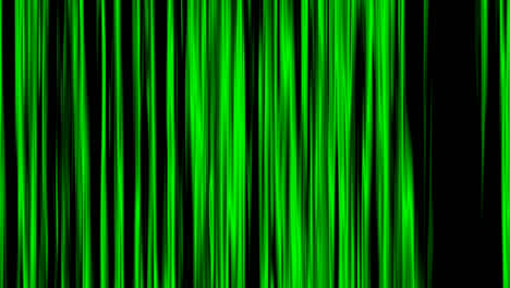 Looping-animation-of-black-and-green-vertical-lines-oscillating