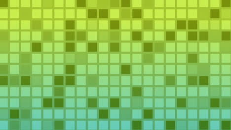 Looping-animation-of-green-and-yellow-colored-tiles-change-color-and-pattern