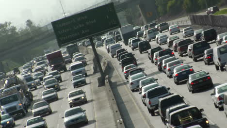 Traffic-moves-slowly-along-a-busy-freeway-in-Los-Angeles-16