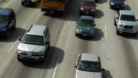 Traffic-moves-slowly-along-a-busy-freeway-in-Los-Angeles-21
