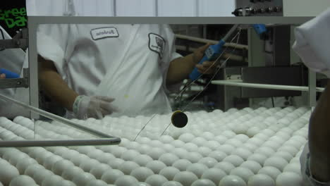 Un-Trabajador-Clasifica-Huevos-En-Una-Fábrica
