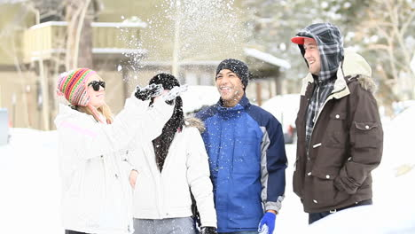 A-group-of-friends-play-in-the-snow-