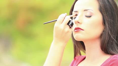 A-makeup-artist-prepares-a-model-