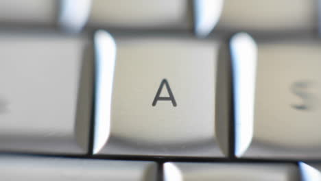 The-letter-A-is-on-a-computer-keyboard