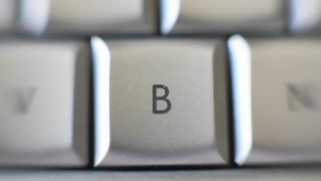 The-capital-letter-B-on-a-keyboard-brought-into-focus