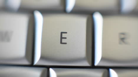 The-letter-E-on-a-keyboard-comes-into-focus