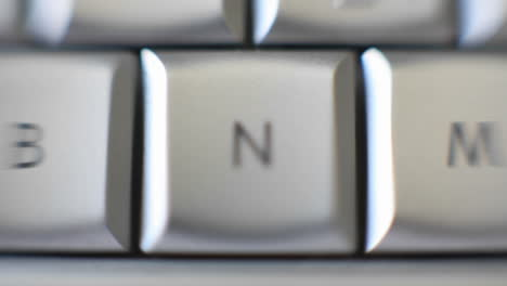 The-letter-N-is-on-a-computer-keyboard