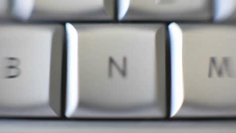 La-Letra-N-Está-En-Un-Teclado-De-Computadora