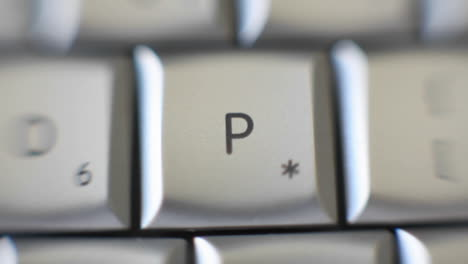 The-letter-P-is-on-a-computer-keyboard