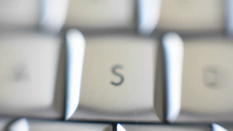 The-letter-S-is-on-a-computer-keyboard