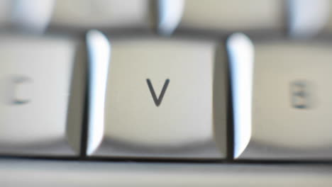 The-letter-V-is-on-a-computer-keyboard