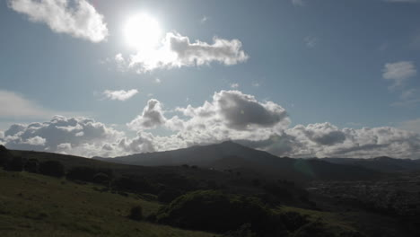 Clouds-pass-over-mountains-in-a-time-lapse-sequence