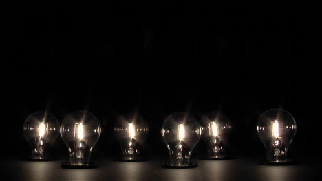 Light-bulbs-slowly-turn-on-and-reach-full-brightness