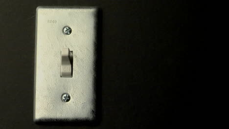 A-light-switch-sits-in-the-on-position