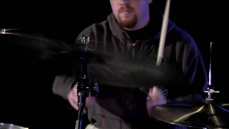 A-musician-plays-the-drums-2