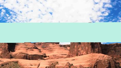 Un-Monumento-De-Piedra-Arenisca-Roja-En-El-Lapso-De-Tiempo-Del-Desierto-2