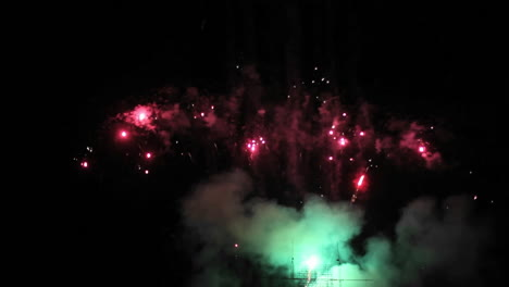 A-fireworks-show-at-night