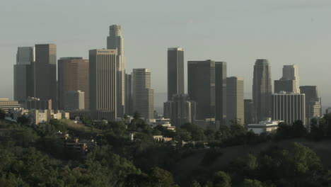 Shadows-form-on-skyscrapers-as-the-sun-passes-over-Los-Angeles