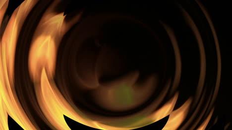 Verzerrte-Perspektive-Einer-Flackernden-Orangefarbenen-Flamme-Die-In-Einem-Lodernden-Feuer-Brennt