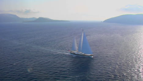 A-beautiful-aerial-shot-of-a-magnificent-sailing-
