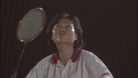 A-woman-is-playing-a-game-of-badminton