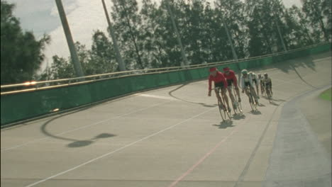 Bicyclists-racing-on-a-circuit-track-1