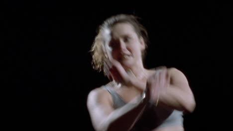 A-woman-does-an-aerobic-workout