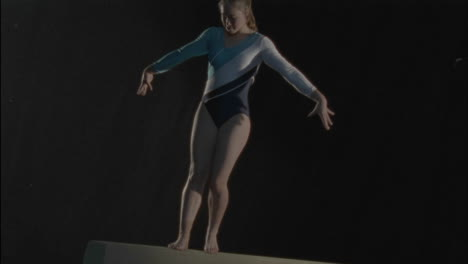 Gymnast-girl-performing