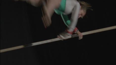 A-gymnast-performs-on-the-uneven-bars