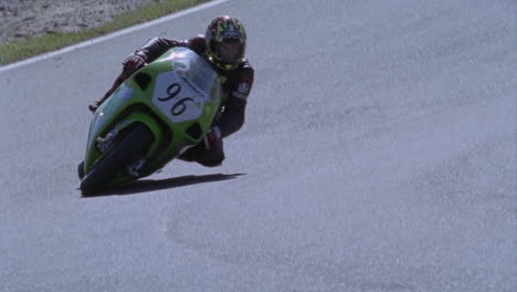 Motorcycle-drives-on-a-circuit-track